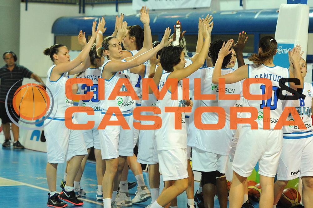 DESCRIZIONE : Frosinone Qualificazioni Europei Francia 2013 Italia Lussemburgo<br /> GIOCATORE : team<br /> CATEGORIA : esultanza <br /> SQUADRA : Nazionale Italia<br /> EVENTO : Frosinone Qualificazioni Europei Francia 2013<br /> GARA : Italia Lussemburgo Italy Luxembourg<br /> DATA : 20/06/2012<br /> SPORT : Pallacanestro <br /> AUTORE : Agenzia Ciamillo-Castoria/GiulioCiamillo<br /> Galleria : Fip 2012<br /> Fotonotizia : Frosinone Qualificazioni Europei Francia 2013 Italia Lussemburgo<br /> Predefinita :