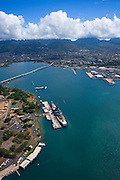 Missouri and Arizona memorials, Pearl Harbor, Oahu, Hawaii