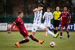 Rok Sirk nad Drilon Kryeziu of NK Triglav Kranj during football match between NŠ Mura and NK Triglav in 19th Round of Prva liga Telekom Slovenije 2018/19, on December 9, 2018 in Fazanerija, Murska Sobota, Slovenia. Photo by Blaž Weindorfer / Sportida