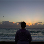 Sunrise along Lantana Beach near Palm Beach, Florida. MR Model Release<br /> Photography by Jose More