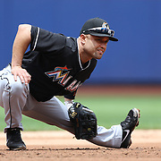 Placido Polanco, Miami Marlins, in action during the New York Mets V Miami Marlins, Major League Baseball game which went for 20 innings and lasted 6 hours and 25 minutes. The Marlins won the match 2-1. Citi Field, Queens, New York. 8th June 2013. Photo Tim Clayton