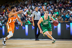 11# Jaka Blazic of KK Cedevita Olimpija during the friendly match between KK Cedevita Olimpija Ljubljana and Ratiopharm Ulm on 11.9.2019 in Hala Tivoli, Ljubljana, Slovenia. Photo by Urban Meglič / Sportida