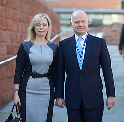 William Hague and his wife Ffyon at the Conservative Party Conference, Manchester, United Kingdom. Sunday, 29th September 2013. Picture by i-Images