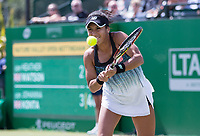 NOTTINGHAM, ENGLAND - JUNE 14: Heather Watson of Great Britain in action against Johanna Konta of Great Britain during Day Six of the Nature Valley Open at Nottingham Tennis Centre on June 14, 2018 in Nottingham, United Kingdom. (Photo by James Wilson/MB Media/Getty Images)