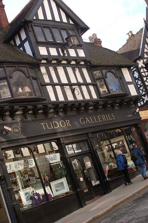 Tudor Galleris shop, Wyle Cop Shrewsbury