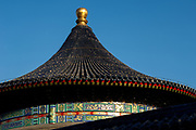 Temple of Heaven roof line of main building, Beijing, China