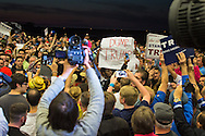Protestors and Trump supporters clash at  Republican presidential candidate Donald Trump's campaign rally in New Orleans.<br /> The New Orleans rally on Friday, March 4, 2016 at Lakefront Airport took place a day before the primary vote.