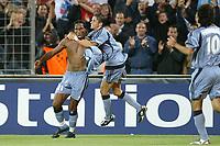 Fotball<br /> UEFA Champions League 2003/2004<br /> 01.10.2003<br /> Marseille v Partizan Beograd<br /> Foto: Digitalsport<br /> NORWAY ONLY<br /> <br /> FOOTBALL - CHAMPIONS LEAGUE 2003/04 - 1ST ROUND - GROUP F - 031001 - OLYMPIQUE MARSEILLE v FK PARTIZAN BELGRADE - JOY DIDIER DROGBA / CAMEL MERIEM (OM) - PHOTO JEAN MARIE HERVIO