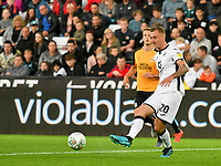 Football - 2019 / 2020 EFL Carabao (League) Cup - Second Round: Swansea City vs. Cambridge United<br /> <br /> Ben Wilmot of Swansea City defends , at Liberty Stadium.<br /> <br /> COLORSPORT/WINSTON BYNORTH