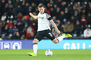 Derby County defender Craig Forsyth (3) during the EFL Sky Bet Championship match between Derby County and Millwall at the Pride Park, Derby, England on 14 December 2019.