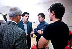 """Miro Cerar, Marko Rajster, Igor Mervic in Peter Kauzer na okrogli mizi na temo """"Kolajna - kljuc do blagovne znamke?"""" v organizaciji SportForum Slovenija, 24. september 2009, Austria Trend Hotel, Ljubljana, Slovenija. (Photo by Vid Ponikvar / Sportida)"""