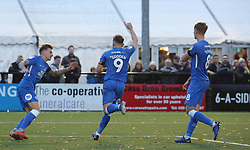 Matt Godden of Peterborough United wheels away to celebrate after scoring his second goal - Mandatory by-line: Joe Dent/JMP - 10/11/2018 - FOOTBALL - Hayes Lane - Bromley, England - Bromley v Peterborough United - Emirates FA Cup first round proper