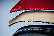 Early morning rain on the winglet of the Lotus F1 car.