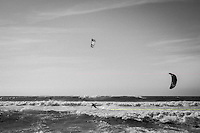 Kiteboarding at Nelscott Reef in  Lincoln City, OR.