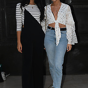 Aimee Wilkinson is a Fashion blogger/influencer & Misty attend Fashion Scout - SS19 - London Fashion Week - Day 3, London, UK. 16 September 2018.