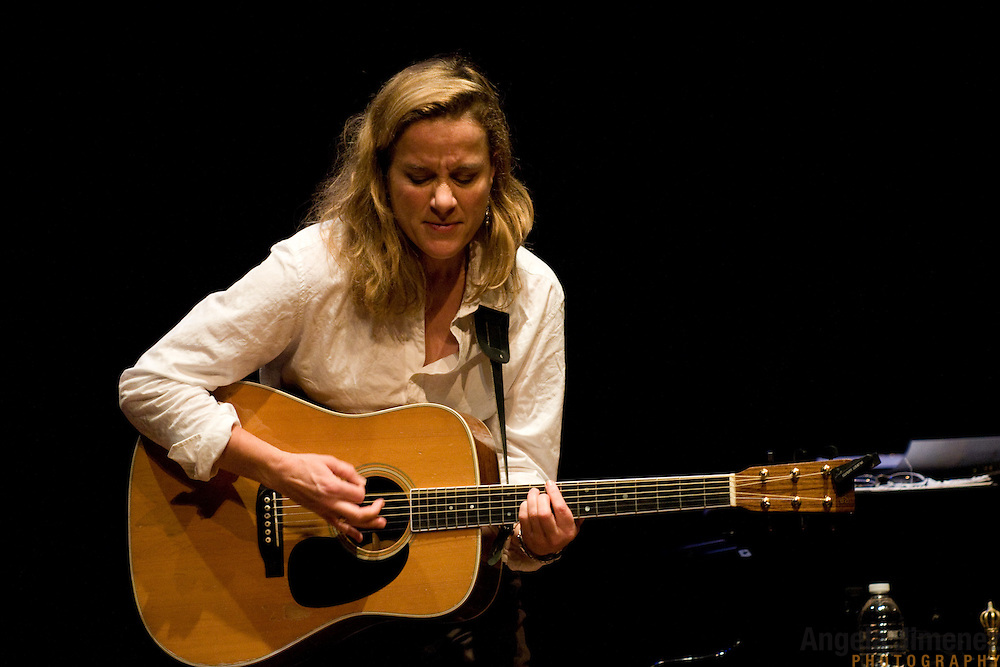 Susan Werner performs with Natalia Zukerman and Trina Hamlin, at the Rubin Museum of Art as part of the Naked Soul series of acoustic concerts held at the museum, in New York City on October 28, 2011. ..Photo by Angela Jimenez .www.angelajimenezphotography.com
