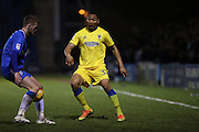 AFC Wimbledon defender Darius Charles (32) during the EFL Sky Bet League 1 match between Gillingham and AFC Wimbledon at the MEMS Priestfield Stadium, Gillingham, England on 21 February 2017.