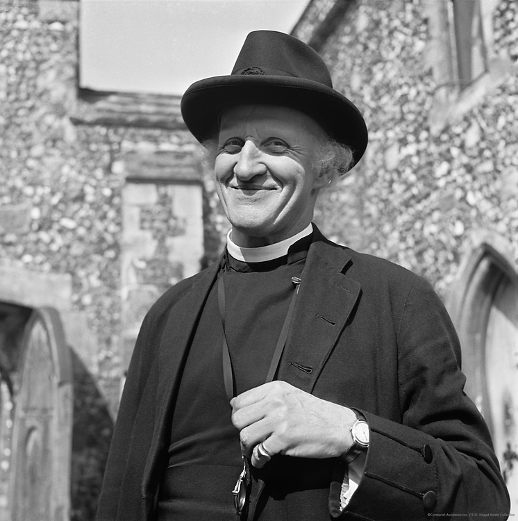Vicar at King's School, Canterbury, Kent, 1945