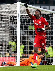 Tammy Abraham of Bristol City celebrates scoring a goal - Mandatory by-line: Robbie Stephenson/JMP - 11/02/2017 - FOOTBALL - iPro Stadium - Derby, England - Derby County v Bristol City - Sky Bet Championship
