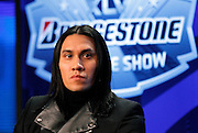 The Black Eyed Peas band member Jaime Luis Gómez (better known as Taboo) speaks to the media at the Super Bowl XLV Halftime Show press conference featuring The Black Eyed Peas (held during the week of NFL Super Bowl XLV between the Pittsburgh Steelers and the Green Bay Packers) on Thursday, February 3, 2011 in Dallas, Texas. ©Paul Anthony Spinelli