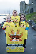 Pieta House, Centre for the Prevention of Self-harm or Suicide will be holding its eighth Darkness into Light charity 5k walk/run this year and for the second time KINVARA is hosting the event.&nbsp; We will be hosting Darkness Into Light on 7th May 2016 while it is still dark at 4.15  and finishing as dawn is breaking at 5.30am approximately.<br /> <br /> The 5 kilometre circuit will commence at the Astro pitch at Kinvara National School. Runners and walkers veer left coming out of Kinvara National School and proceed down the main street. From there the runners and walkers will continue along the N67 in the direction of Dunguaire Castle. Runners and walkers will then turn onto R367(Ardrahan Road) on their right and from there proceed approx. 1 KM and turn left onto Green Road.They will then proceed to rejoin theN67 at the Green Road junction on the northeast of Dunguaire Castle. The participants will proceed back towards Kinvara village along the N67 until returning to the original starting point at the Astro pitch at Kinvara National School.<br /> At the Launch were Hilary Sexton with young people  Nicole Heanen, and Bronagh O'Driscoll. Photo:Andrew Downes, xposure.