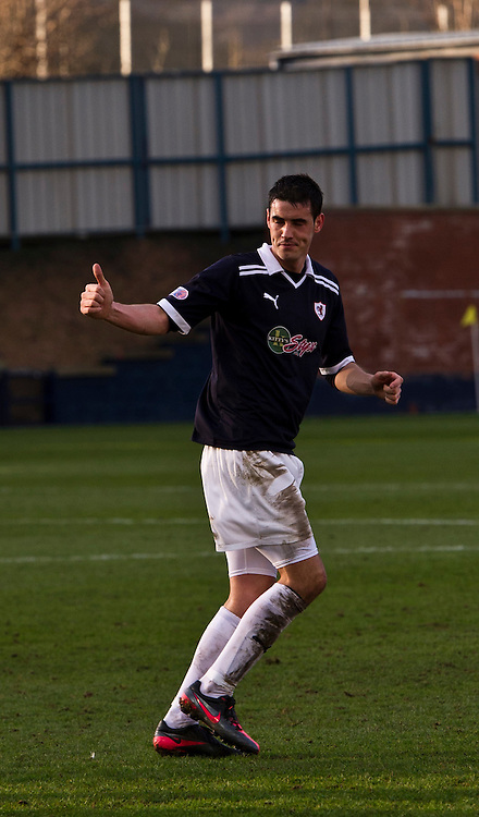 Raith Rover's Brian Graham is substituted. Raith Rovers v Morton  Irn-Bru Scottish Football League Division One at Starks Park, Kirkcaldy. 3 March 2012