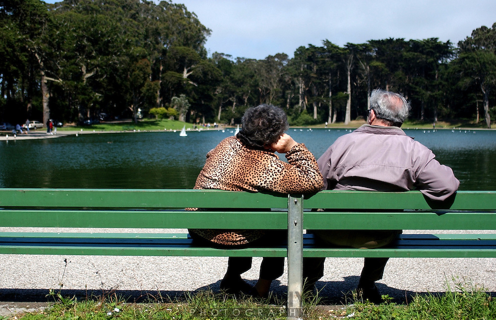 Russian couple at Spreckles Lake 4:30 pm Sunday.