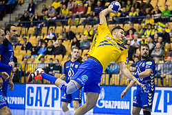 Kristian Beciri of Celje during handball match between RK Celje Pivovarna Lasko and RK Zagreb PPD in Round #13 of SEHA Gazprom League 2017/18, on February 4, 2018 in Arena Zlatorog, Celje, Slovenia. Photo by Vid Ponikvar / Sportida
