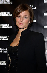 Model Bridget Hall arrives at the 2004 Sports Illustrated Swimsuit Issue press event for the 40th Anniversary Edition held at Deep in New York, on Tuesday, February 10, 2004. (Pictured : Bridget Hall). Photo by Nicolas Khayat/ABACA.  Hall Bridget Seule Seul Seuls Seules Alone Soiree Party New York City New York USA United States of America Vereinigte Staaten von Amerika Etats-Unis Etats Unis Plan americain Half length Vertical Vertical  | 55874_23