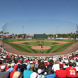March 13, 2011; Fort Myers, FL, USA; A general view during a spring training exhibition game between the Philadelphia Phillies and the Minnesota Twins at Hammond Stadium.  Mandatory Credit: Derick E. Hingle-US PRESSWIRE