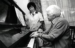 Community care assistant & elderly woman, Nottingham UK 1989