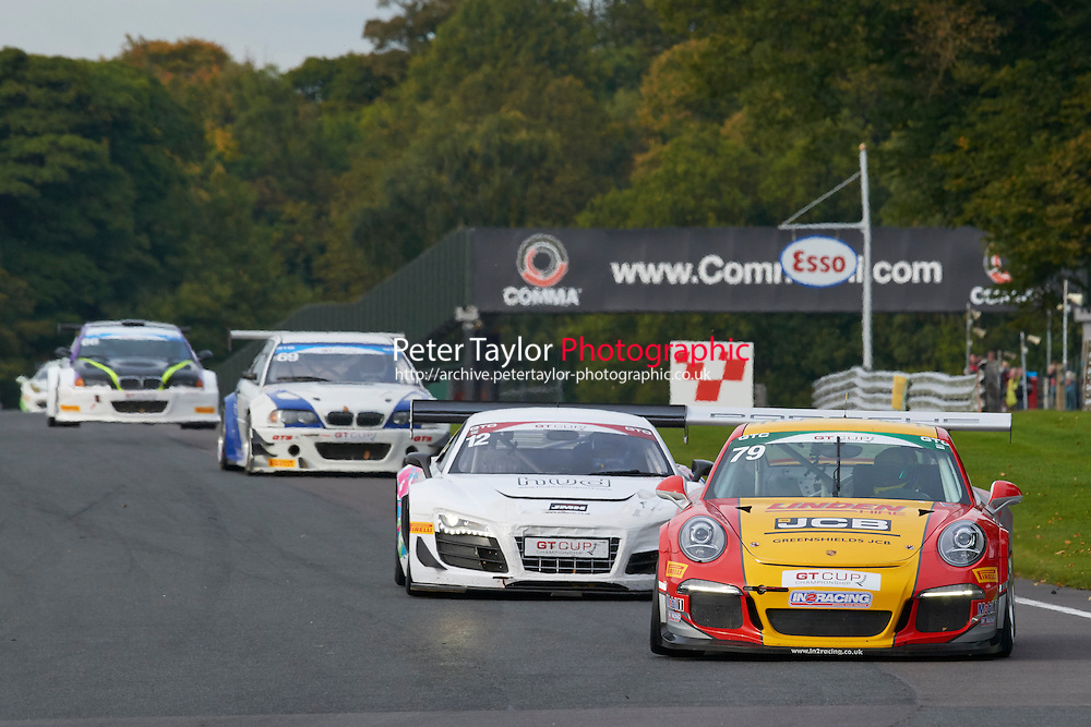 #79 Will PLANT Porsche 991 GT3 during GT Cup - Race 2 as part of the MSVR Oulton Park 10th October 2015 at Oulton Park, Little Budworth, Cheshire, United Kingdom. October 10 2015. World Copyright Taylor/PSP. Copy of publication required for printed pictures.  Every used picture is fee-liable.