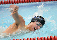 WARMINSTER, PA - DECEMBER 16: Central Bucks South's Matt Moretti competes in the 200 Freestyle during a swim meet at William Tennent December 16, 2014 in Warminster, Pennsylvania. Central Bucks South faced William Tennent in the boy and girl swim meet. (Photo by William Thomas Cain/Cain Images)
