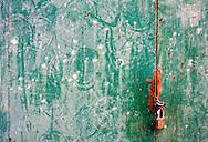 Door and lock in Cardenas, Matanzas, Cuba.