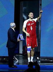 September 30, 2018 - Turin, Italy - Poland v Brazil - FIVP Men's World Championship Final.Bartosz Kurek of Poland receives the award as MVP of the championship at Pala Alpitour in Turin, Italy on September 30, 2018. (Credit Image: © Matteo Ciambelli/NurPhoto/ZUMA Press)