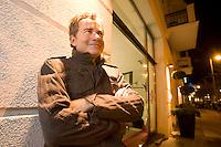 2008, BERLIN/GERMANY:<br /> Martin Varsavsky, argentinischer Unternehmer und Geschaeftsfuehrer und Gruender von FON, vor dem Hotel Lux 11, Rosa-Luxemburg-Strasse<br /> IMAGE: 20081020-04-026