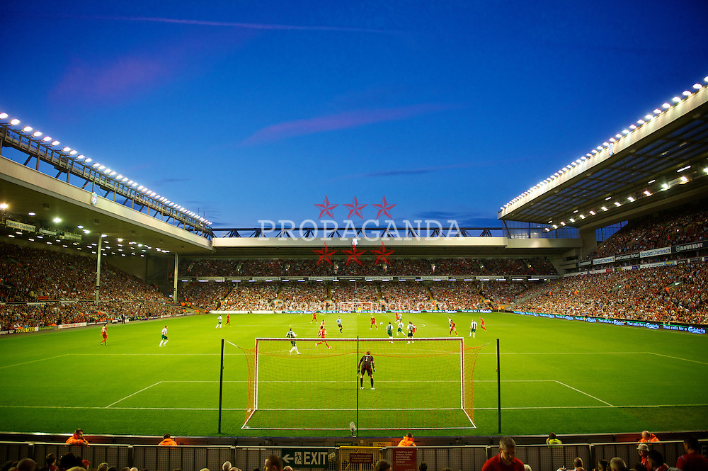 LIVERPOOL, ENGLAND - Thursday, August 9, 2012: A view from the Spion Kop as Liverpool take on FC Gomel during the UEFA Europa League Third Qualifying Round 2nd Leg match at Anfield. (Pic by David Rawcliffe/Propaganda)