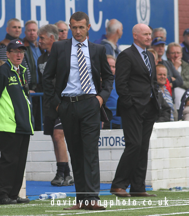 Queen of the South boss Jim McIntyre - Queen of the South v Dundee, SPFL Championship at Palmerston<br /> <br />  - Pictures &copy; David Young