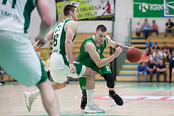 Gregor Hrovat of KK Petrol Olimpija Ljubljana during basketball match between KK Krka Novo mesto and  KK Petrol Olimpija in 2nd Final game of Liga Nova KBM za prvaka 2017/18, on May 22, 2018 in Sports hall Leona Stuklja, Novo mesto, Slovenia. Photo by Urban Urbanc / Sportida