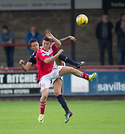 Dundee&rsquo;s Danny Williams and Brechin's Finn Graham - Brechin City v Dundee pre-season friendly at Glebe Park, Brechin, Photo: David Young<br /> <br />  - &copy; David Young - www.davidyoungphoto.co.uk - email: davidyoungphoto@gmail.com