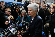 U.S. District Attorney Carlie Christensen talks about the guilty verdict in the Brian David Mitchell trial during a news conference outside federal court Friday, Dec. 10 2010 in Salt Lake City. Mitchell was found guilty for the June 5 2002 abduction of Elizabeth Smart. (AP Photo/Colin E Braley)