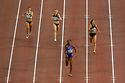 Courtney Okolo (USA) winning the Women's 400m, Ruth Sophia Spelmeyer (Germany), Imke Vervaet (Belgium), Camille Laus (Belgium), during the IAAF Diamond League event at the King Baudouin Stadium, Brussels, Belgium on 6 September 2019.