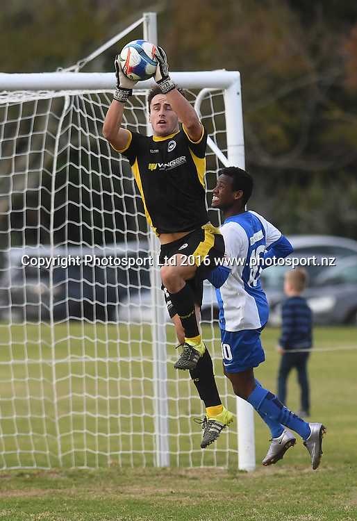 Suburbs goal keeper Zac Speedy. Chatham Cup Football, Round 2. Eastern Suburbs v Hamilton Wanderers, Madills Farm, Auckland, New Zealand. Monday 6 June 2016©Copyright photo: Andrew Cornaga/www.photosport.nz