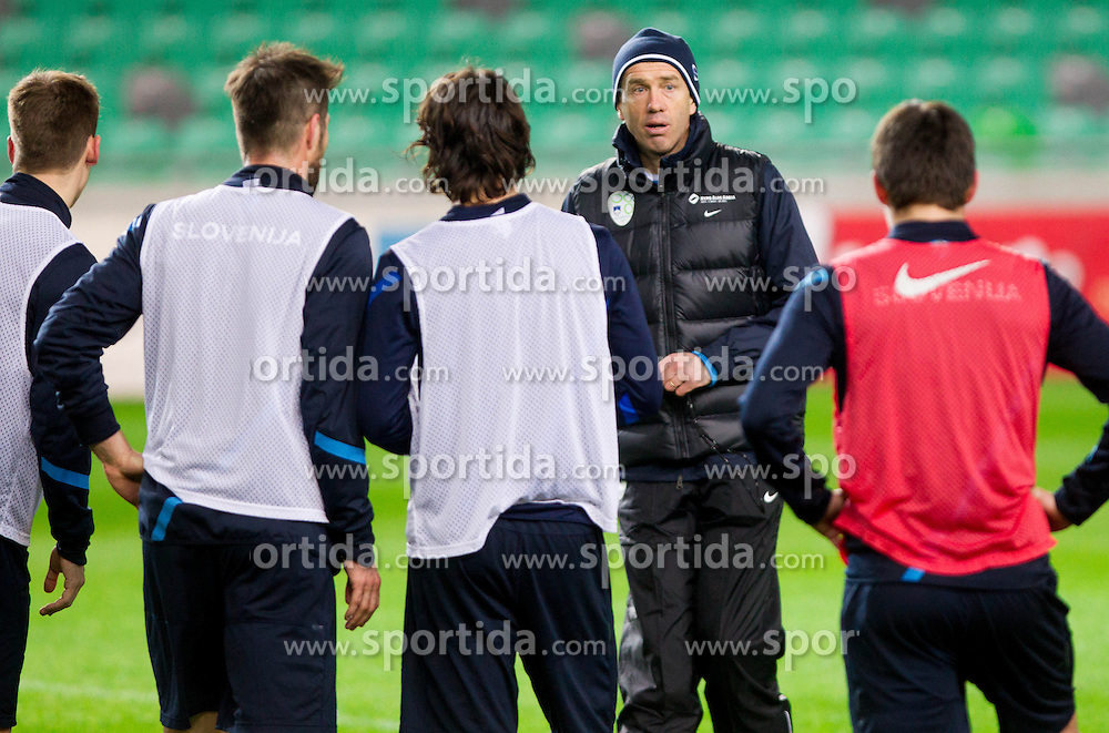 Srecko Katanec at first practice session of Team Slovenia with new head coach S. Katanec before friendly football match between National teams of Slovenia and Bosna and Herzegovina, on February 4, 2013 in SRC Stozice, Ljubljana, Slovenia. (Photo By Vid Ponikvar / Sportida.com)