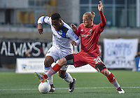 Ottawa Fury FC defender Marcel De Jong (#30) during the Amway Canadian Championship preliminary match between the Ottawa Fury FC and FC Edmonton at TD Place Stadium in Ottawa, ON. Canada on May 18, 2016. The Fury lost 2-0 on the night, but won 3-2 overall to progress to the semi-final where they will meet the MLS team Vancouver Whitecaps FC.<br /> <br /> PHOTO: Steve Kingsman/Freestyle Photography