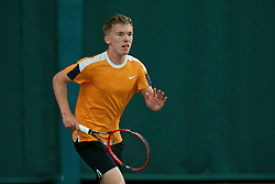 LIVERPOOL, ENGLAND - Wednesday, June 17, 2015: Mark Rushton Woods during qualifying for the Liverpool Hope University International Tennis Tournament at Watertree Tennis Centre. (Pic by David Rawcliffe/Propaganda)