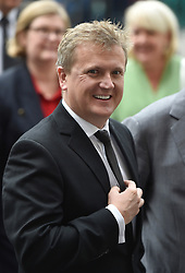 Aled Jones arrives for the Service of Thanksgiving for Sir Terry Wogan at Westminster Abbey, London.