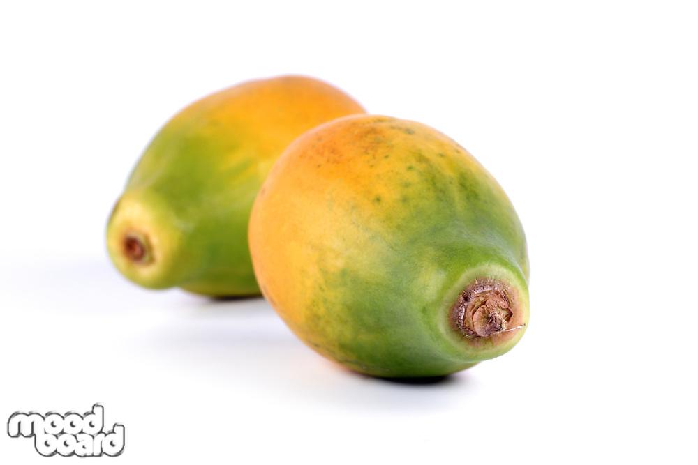 Papaya on white background - studio shot