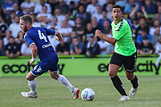 Forest Green Rovers Lloyd James(4) on the ball during the Pre-Season Friendly match between Forest Green Rovers and Leeds United at the New Lawn, Forest Green, United Kingdom on 17 July 2018. Picture by Shane Healey.