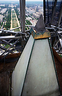 The top of the Washington Monument in June 1999. Photograph by Dennis Brack